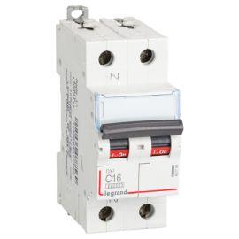 Interruptor Magnetotérmico 1P+N 16A DX3 6/10KA Curva C Legrand 407756