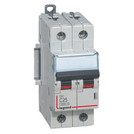 Interruptor Magnetotérmico 2P 25A DX3 6/10KA Curva C Legrand 407802