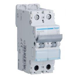 Interruptores automáticos gama terciario HAGER Interruptor Magnetotérmico 2P 10A 6/10KA Curva C Hager M MCA210