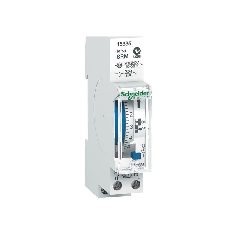 Interruptores horarios SCHNEIDER Interruptor horario analógico 24h sin reserva Schneider 15335