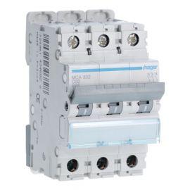 Interruptores automáticos gama terciario HAGER Interruptor Magnetotérmico 3P 32A 6/10KA Curva C Hager M MCA332