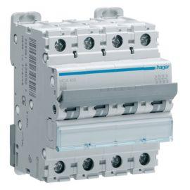 Interruptores automáticos gama terciario HAGER Interruptor Magnetotérmico 4P 10A 6/10KA Curva C Hager M MCA410