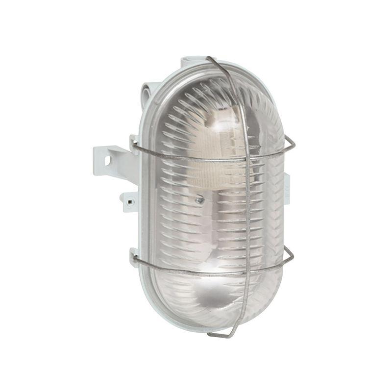 Regletas y Apliques LED LEGRAND Hublot de cristal ovalado con rejilla Bebilux E27 IP44 Legrand 060414