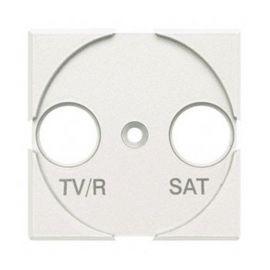 Tapa para TV/R-SAT 2 módulos blanco Bticino Axolute HD4212