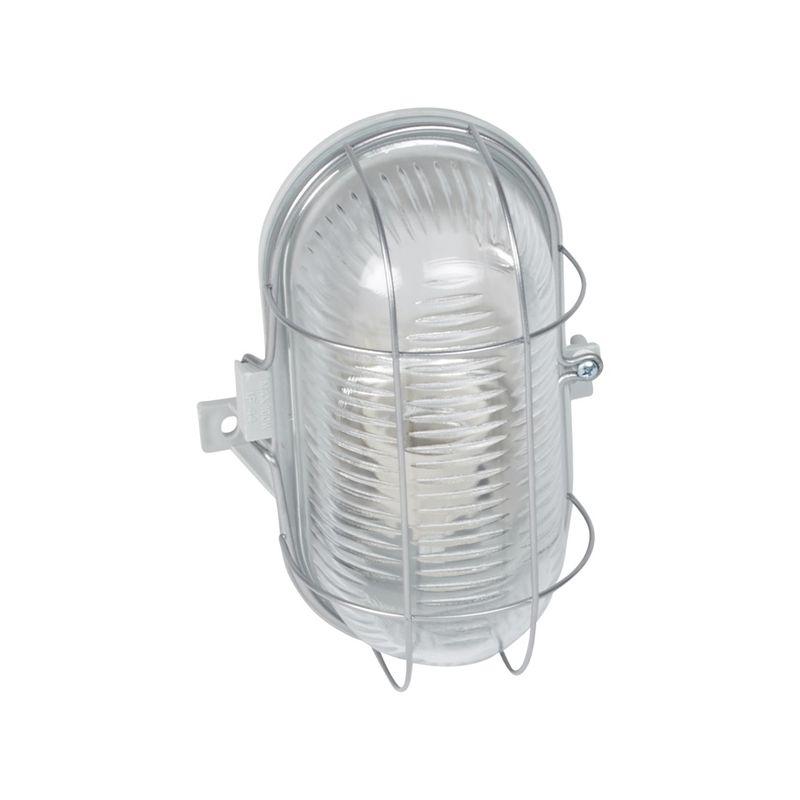 Regletas y Apliques LED LEGRAND Hublot de cristal ovalado con rejilla metálica E27 IP44 Legrand 060419