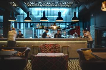 Iluminación de barra de restaurante
