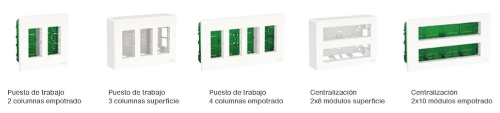 Cajas de centralización y Puestos de trabajao de New Unica de Schneider Electric en Qmadis