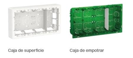 Cajas de superficie y empotrar de la linea de New Unica Schneider Electric en Qmadis