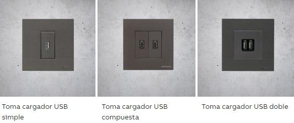 Cargador USB serie Zenit