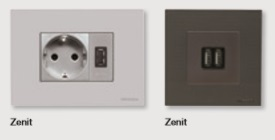 Cargadores USBserie Zenit Niessen