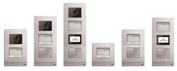 Combinaciones de placas de calle de videoportero Welcome de Niessen