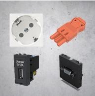Componentes eléctricos, multimedia, conexión rápida de Niessen en Qmadis