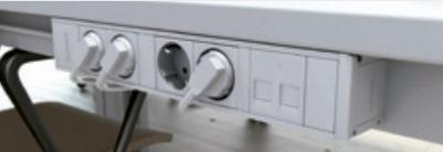 Conexión organizado con acabado en blanco y zeta a 90º