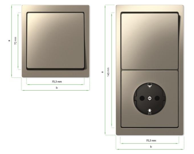 Dimensiones de los mecanismo de la Nueva Serie D-Life de Schneider Electric