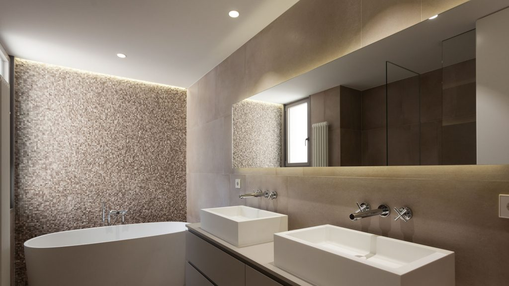 Iluminar casa moderna con focos LED