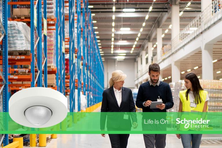 Control de iluminación para ahorrar energía con Schneider