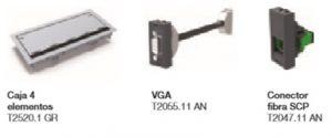 Kit con USB de carga de cablead y conectores de Sky Niessen