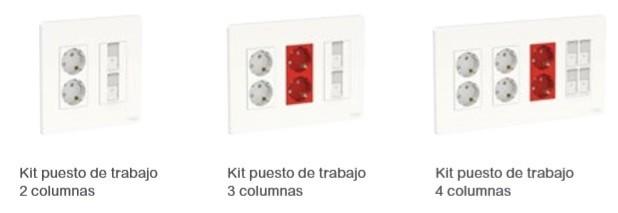 Kits de Puestos de Trabajo de la linea de New Unica Schneider Electric en Qmadis