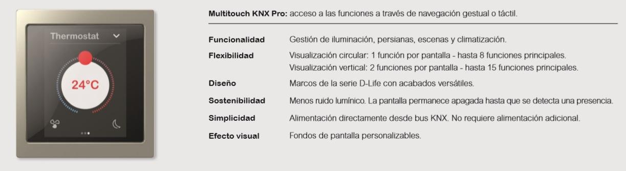 Multitouch KNX Pro de la nueva serie D-Life de Schneider Electric