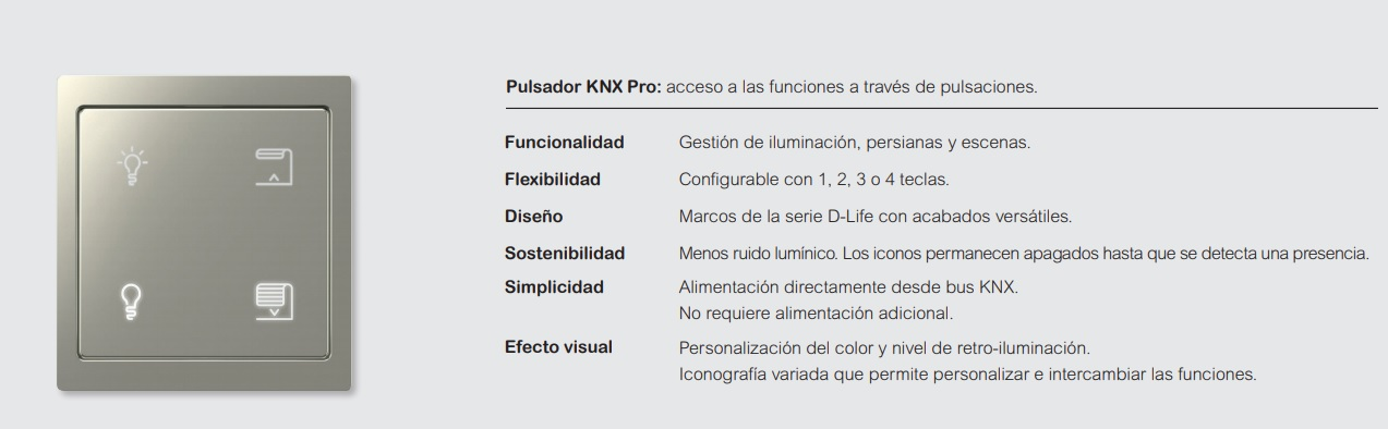 Pulsador KNX Pro de Schneider Electric
