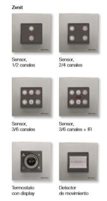 Sensores DIseño Zenit de Niessen