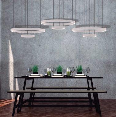 Iluminación de mesa de comedor consulta en Qmadis