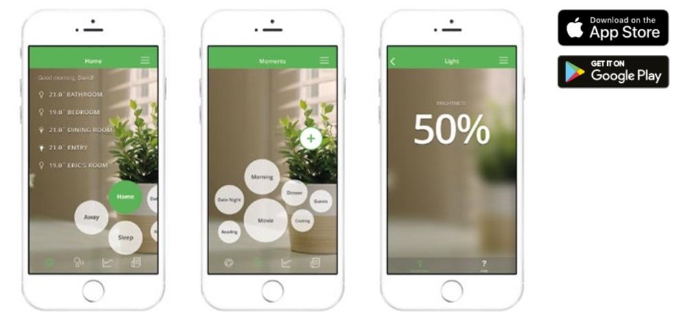 Wiser con la aplicación en móviles y tablets de la linea new unica de Schneider Electric