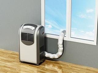 Instalación de aire acondicionado portátil