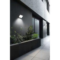 Aplique exterior Curie Glass gris urbano Leds C4 en qmadis