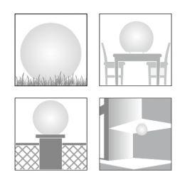 Bola exterior colo blanca LED en Qmadis
