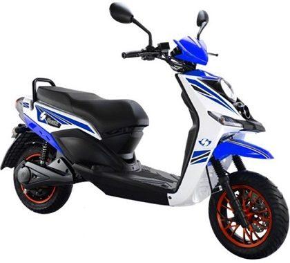 Scooter eléctrico amigable con el medio ambiente