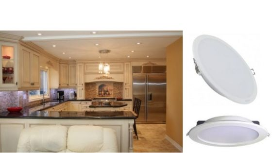 Mejor iluminación en tu cocina con downlight LED
