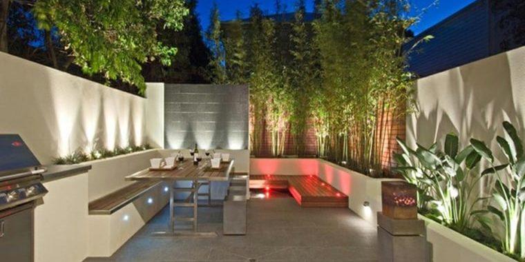 Iluminación del jardín. Variedad de diseños y modelos para diseñar con luz
