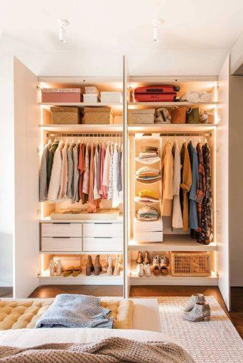 Iluminación de armarios: iluminar el interior de armario