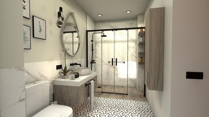 Iluminación ducha de baño para disfrutar como si fuera un spa