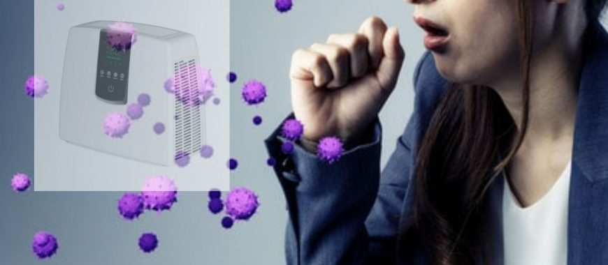 Ionizador que limpia el aire de virus, bacterias,alérgenos y ácaros