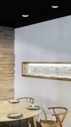 Iluminación con foco empotrable Lex Eco de Arkoslight en Qmadis
