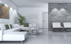 Iluminación salón con focos empotrados orientables LED