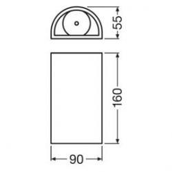 Detalle Aplique de pared gris, blanco para exterior Facade UpDown 12W 3000K Ledvance