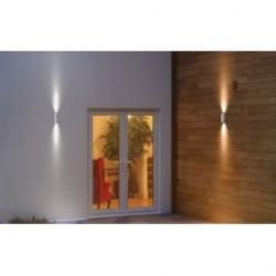 Imagen Aplique de pared gris, blanco para exterior Facade UpDown 12W 3000K Ledvance