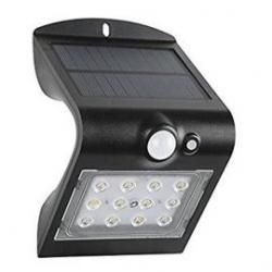 Aplique LED Solar negro 1,5W IP65 con detector de movimiento 8501N