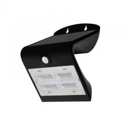 Aplique pared solar de exterior IP65 3,2W 840 400lm Negro de Prilux