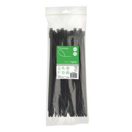 Bolsa de 100 bridas poliamida 200X2.5mm negro