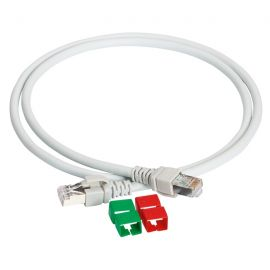 Latiguillo RJ45 UTP 1 metro cat. 6A color gris Schneider