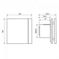 Extractor de baño temporizado Silent-100 Design CRZ