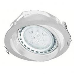 Aro empotrable basculante QR111 blanco casquillo GX53