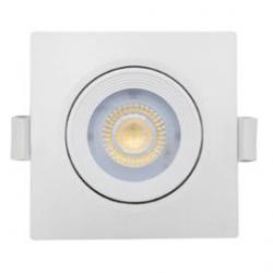 Foco led cuadrado blanco 6,5W Nahe SQ luz cálida 830 Prilux