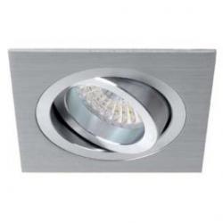 Aro empotrable cuadrado orientable aluminio 703D-05 Jiso (sin bombilla)