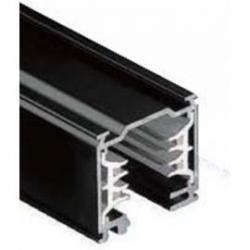 Carril iluminación trifásico superficie 2m negro