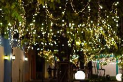 Iluminación con luces de guirnaldas Led para fiestas